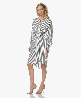 FWSS Lisa Silk Shirt Dress - Sonder Stripes