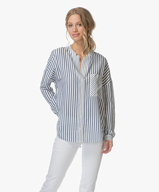 HUGO Empira Striped Blouse - Open Miscellaneous