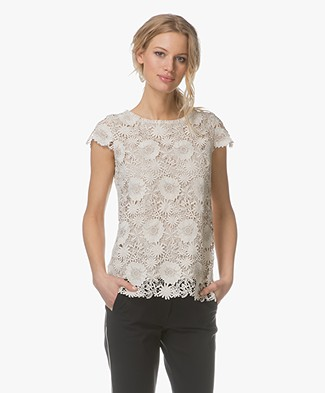 no man's land Lace Top - Chalk