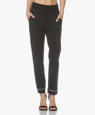 no man's land Trendy Jersey Pyjama Pants - Core Black