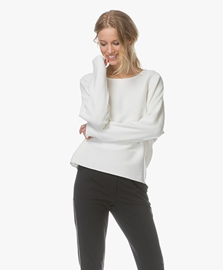 no man's land Cotton Dolman Sleeve Sweater - Jasmin