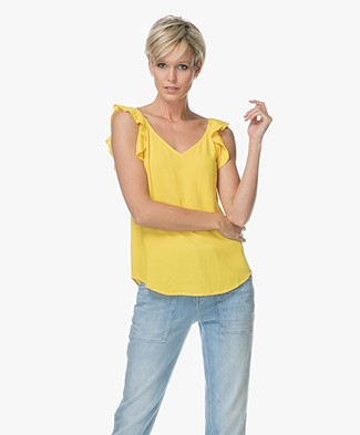 Ba&sh Tanger Frill Top - Yellow