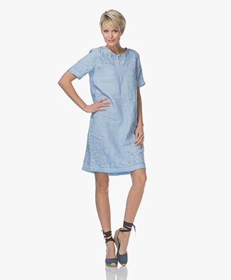 Belluna Bombay Linen Dress - Blue