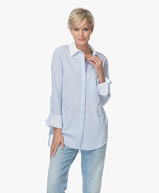 Drykorn Kerra Poplin Shirt - Light Blue
