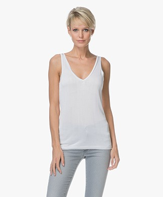 Drykorn Minka Knitted V-neck Top - White