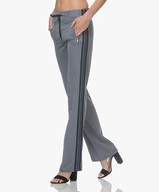 Drykorn Tracking Jacquard Jersey Pants - Dark Blue