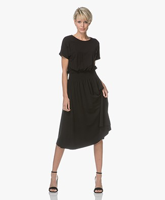 HUGO Nakita Crêpe Jersey Dress - Black
