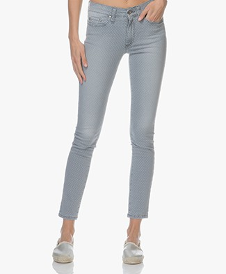 Indi & Cold Skinny Jeans with Dot Print - Grey