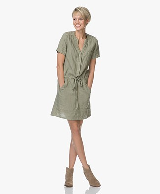 Indi & Cold Linen Shirt Dress - Vison