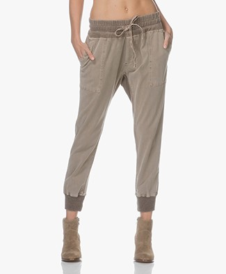 James Perse Mixed Media Pant - Coyote