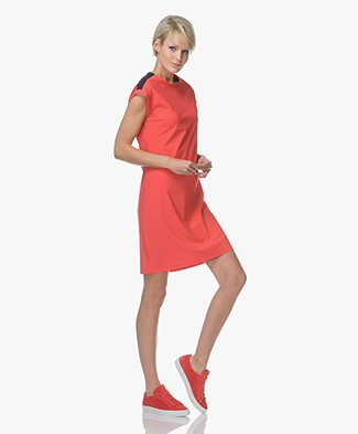 Josephine & Co Riene Jersey Color-block Dress - Red/Navy