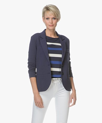Repeat Jersey Blazer - Dark Blue