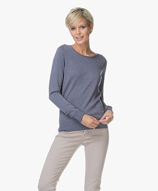 Repeat Cotton Blend Pullover - Night