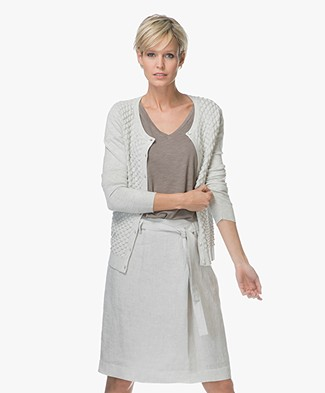 Belluna Solo Cardigan in Honeycomb Knit - Ash
