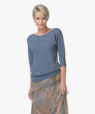 Belluna Weekend Half Sleeve Viscose Blend Pullover - Jeans