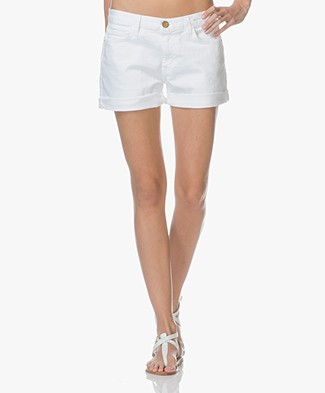 Current/Elliott The Boyfriend Rolled Shorts - White
