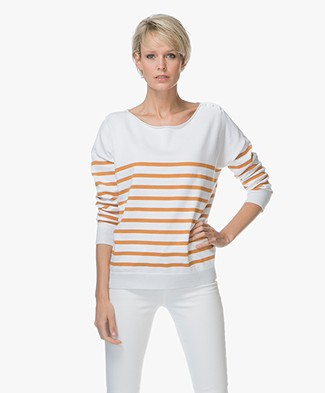 Marie Sixtine Delia Organic Cotton Striped Sweater - Optical