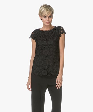 no man's land Lace Top - Black
