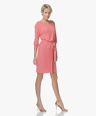 no man's land Crêpe Jersey Dress - Peony