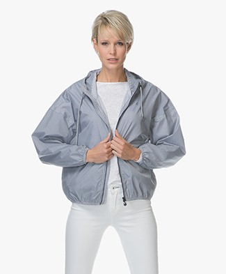 Petit Bateau Moona Rain Jacket - Smoking/ Marshmallow