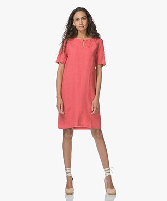 Belluna Bombay Linen Dress - Peche