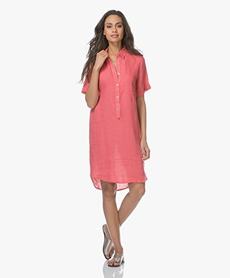 Belluna Terre Linen Shirt Dress - Peche