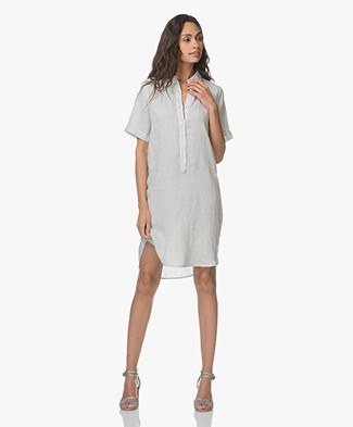 Belluna Terre Linen Shirt Dress - Light Grey
