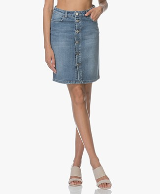 Filippa K Mid Blue Denim Skirt - Vintage Summer Denim