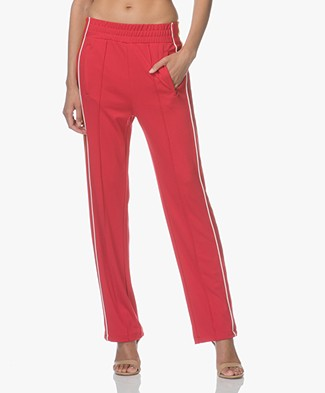 MKT Studio Proxa Jersey Pants with Side Stripes - Red
