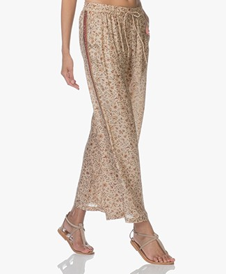Mes Demoiselles Samos Silk Pants - Floral Champagne