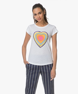 Zadig & Voltaire Skinny Disco T-shirt - Wit