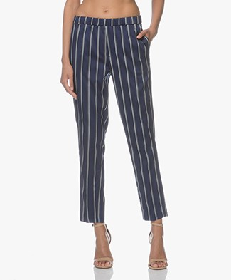 Closed Blanch Striped Pants - Worker