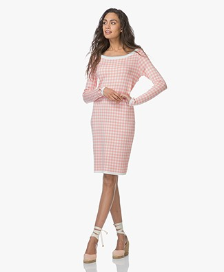 Josephine & Co Lianne Knitted Dress - Check Indian Pink