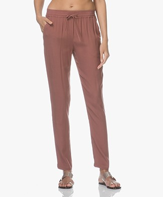BY-BAR Jolie Crepe Viscose Pants - Plum