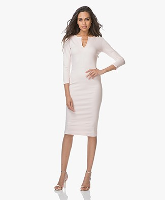 Baukjen Kingsbridge V-slit neck Jersey Dress - Blush