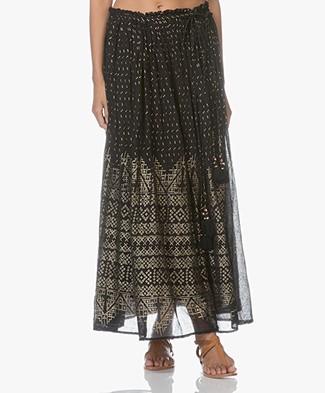 Mes Demoiselles Byzantine Maxi Printed Skirt - Black