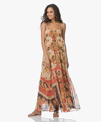 Mes Demoiselles Magdalena Maxi-dress in Cotton Voile - Floral Combo