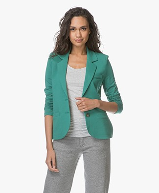 Repeat  Tailored Jersey Blazer - Green