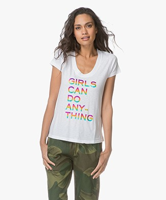 Zadig & Voltaire Tiny Girls T-shirt - Wit