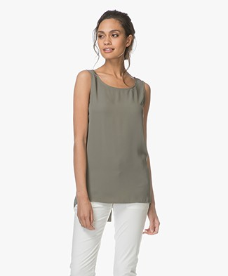 Woman by Earn Cat Sleeveless Top - Army