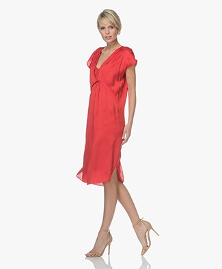 By Malene Birger Mallas Satin Dress - Bright Red