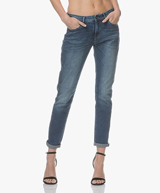 Denham Monroe Girlfriend Jeans - Medium Blue