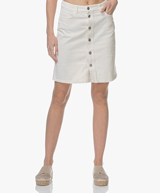 Filippa K Ecru Denim Rok - Ecru Wit