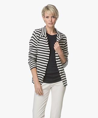 Indi & Cold Knitted Jacquard Blazer - Marino