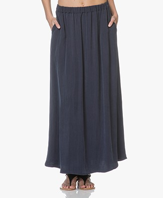 American Vintage Meadow Cupro Maxi Skirt - Ink