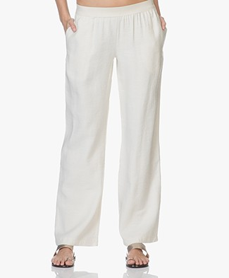 BY-BAR Maddy Canvas Broek - Off-white