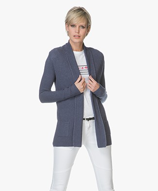 Belluna Martino Cardigan with Shawl Collar - Jeans