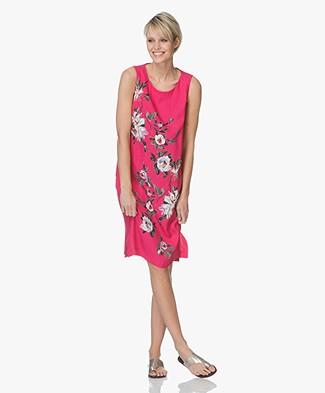 Kyra & Ko Tinka Crêpe Print Dress - Fuchsia