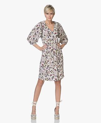 MKT Studio Riglou Bohemian Floral Printed Dress - Craie