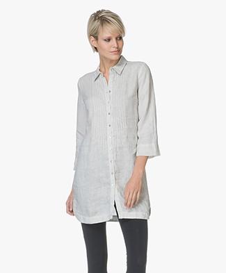 Belluna Fish Linen Tunic Blouse - Light Grey